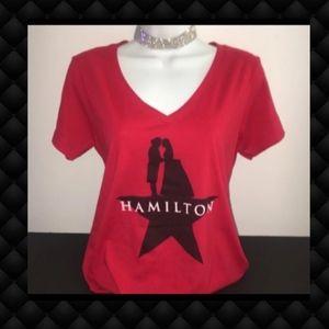 Hamilton Tops - Hamilton V Neck Women's Tshirt L